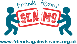 Friends Against Scams Logo (with website)